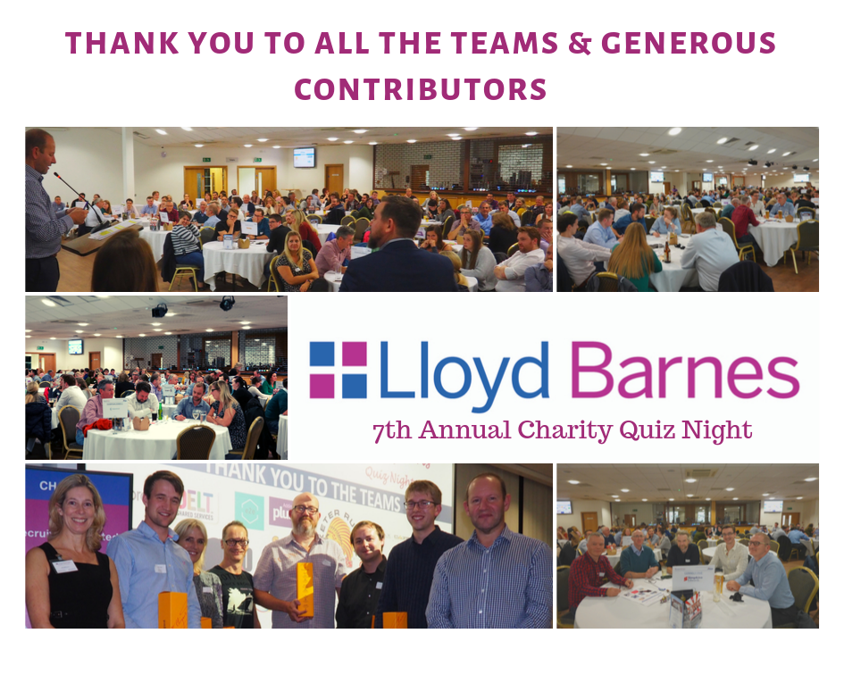 Lloyd Barnes 7th Annual Charity Quiz Night